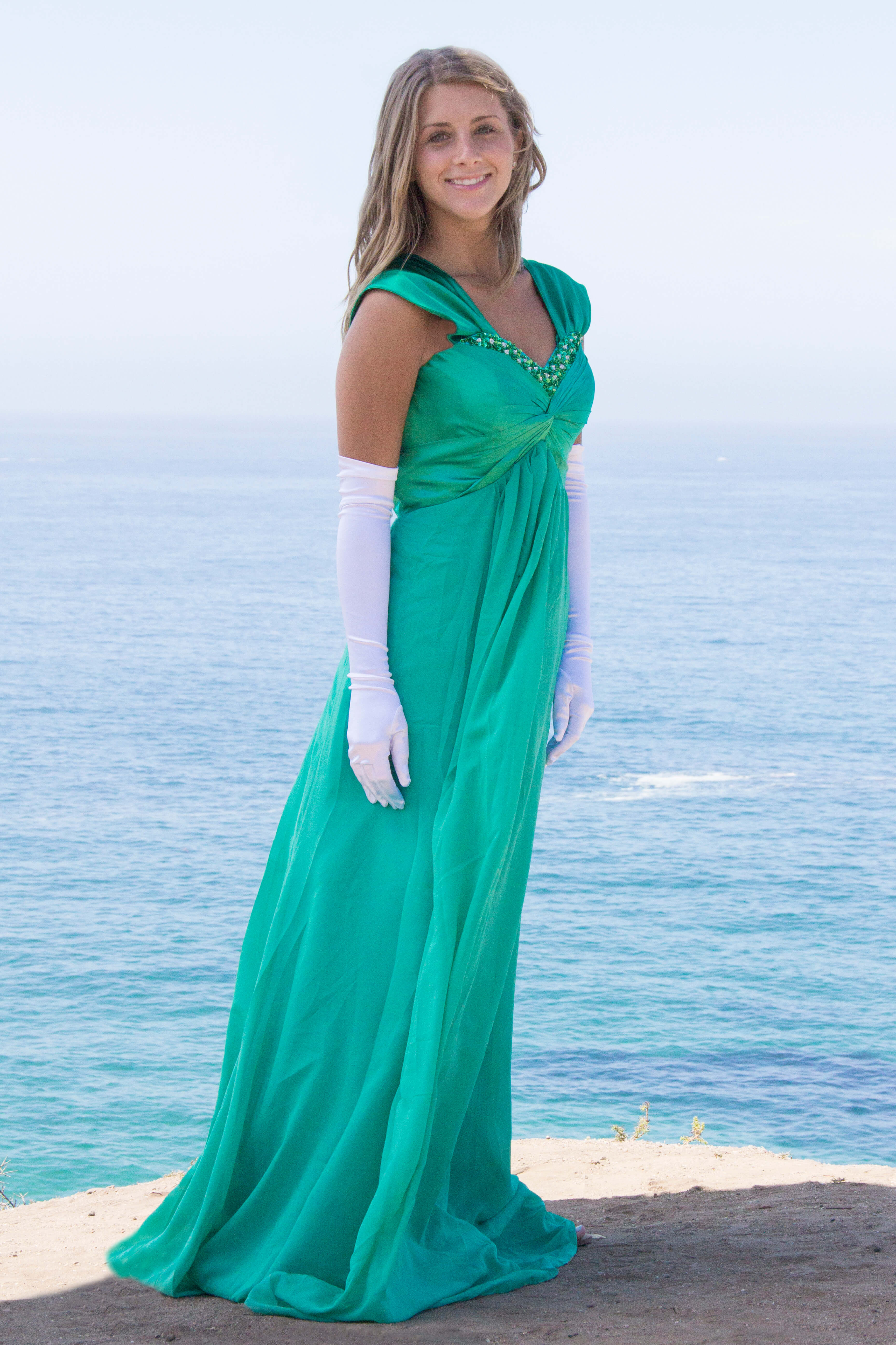 La Fee Cheap Modest Prom Dress with Sleeves