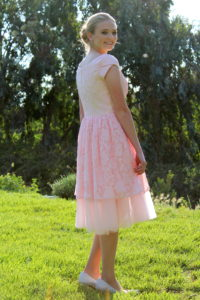 Gina Pink Lace Dress